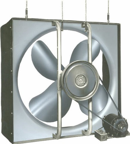 "Airmaster 32687 Whole House Fan, 2 Speed, Semi-Enclosed Motor, 24"" Prop Diameter, 115V, 1/3HP Motor"