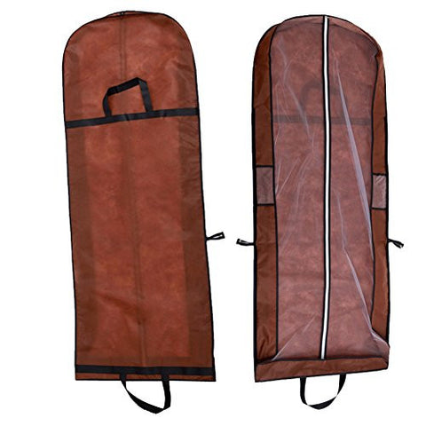 Wed2BB Two Use Ways Coffee NonWoven Dust-proof Garment Bag With Handles For Travel Carry Cover Wedding Dresses