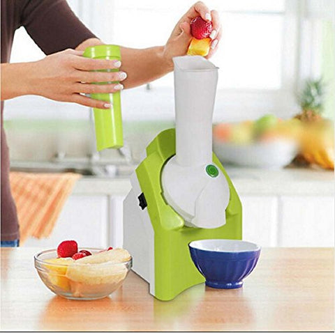 Popular DIY ice cream machine household automatic multifunction mini green fruit ice cream maker Slush Machine Cool Summer