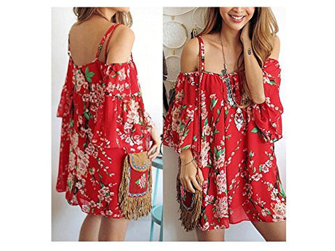 New Colorful Summer Women Evening Cocktail Casual Mini Floral Party Dress