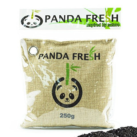 1 x LARGE - Remove Odors Naturally with Activated Air Purifying BAG Moisture Removing 250g Bag Non Toxic & Chemical Free Bamboo Charcoal + REUSABLE FOR 2 YEARS !