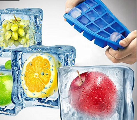 Zorvo 15-Cavity Silicone Drink Ice Cube Pudding Jelly Cake Chocolate Mold Mould Tray Set of 2