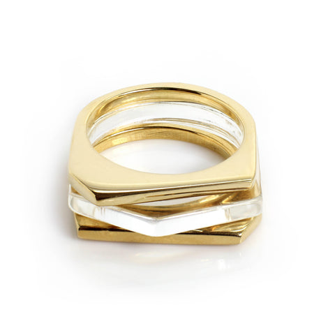 Tisek Square Top Ring