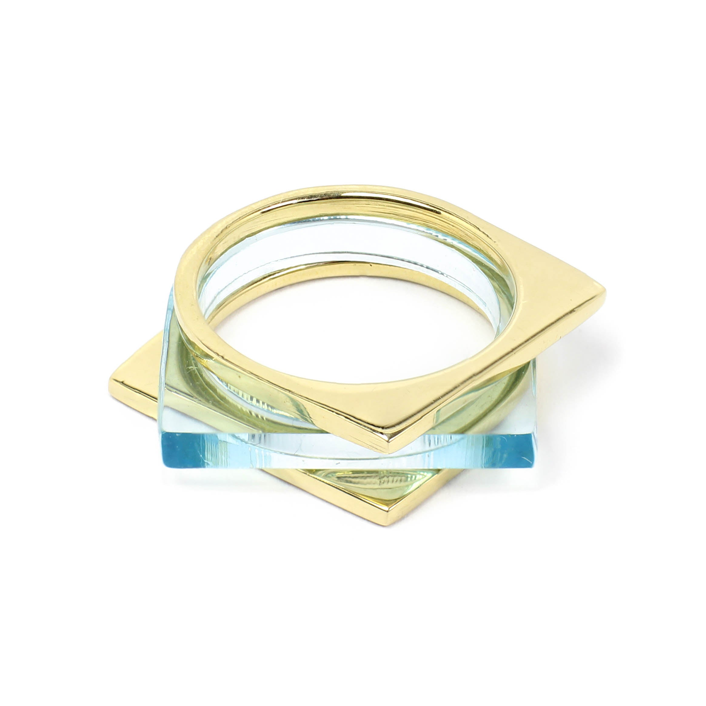 Tisek Square Top Stack Rings
