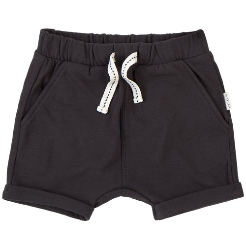 Miles Basics Dark Grey Knit Shorts