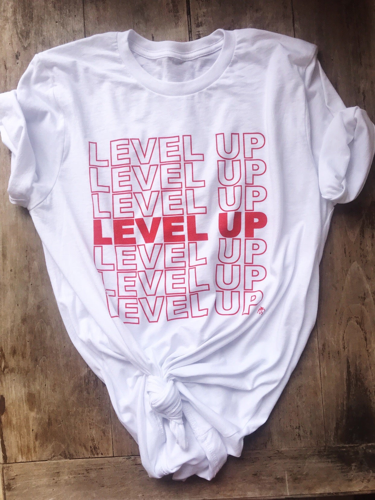 Level Up Crew Neck Tee *presale