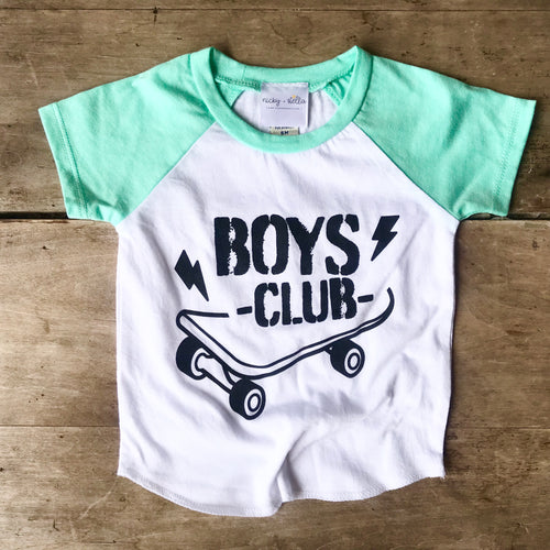 Boys Club Short Sleeve Raglan