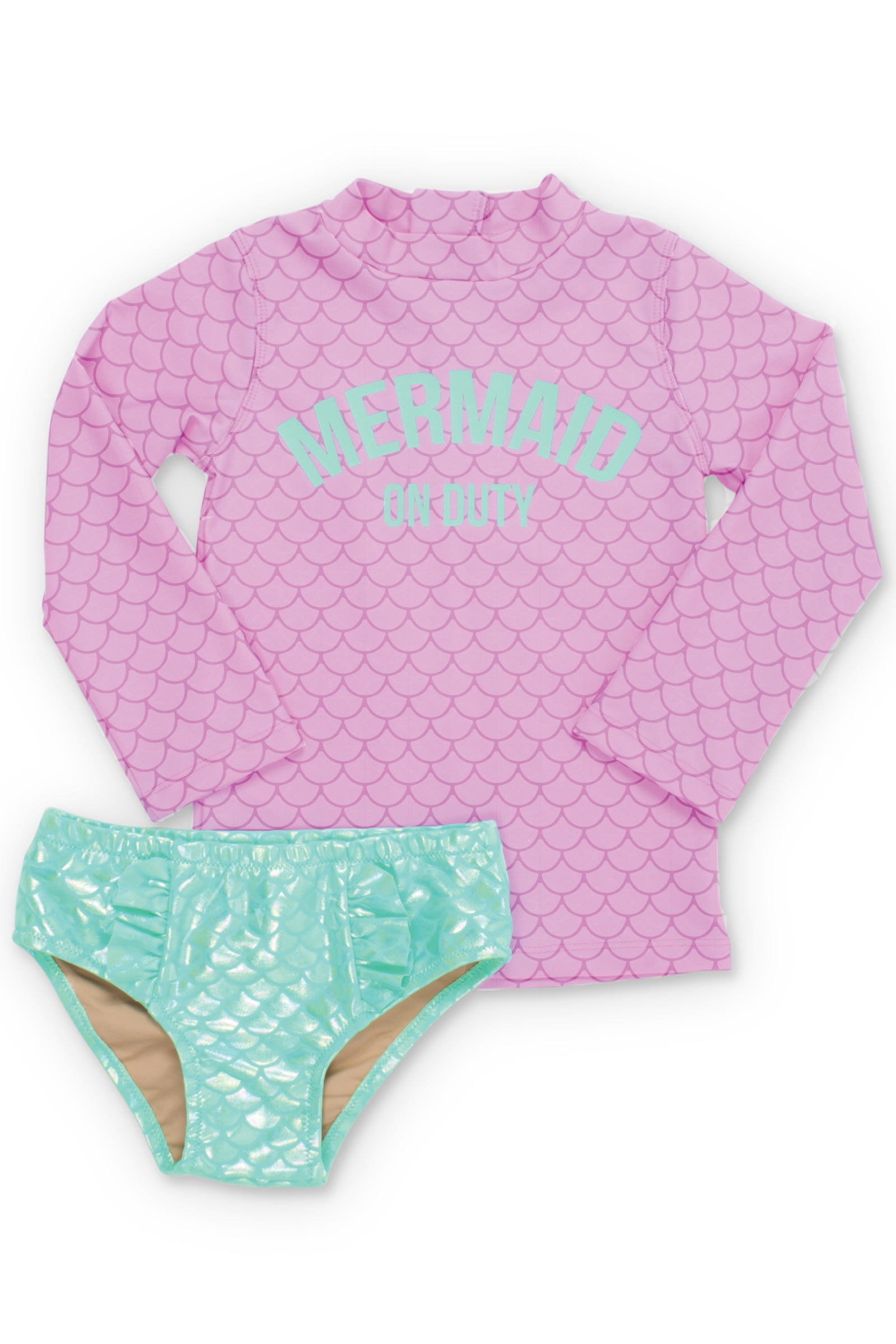 Mermaid Off Duty Rash Guard Set