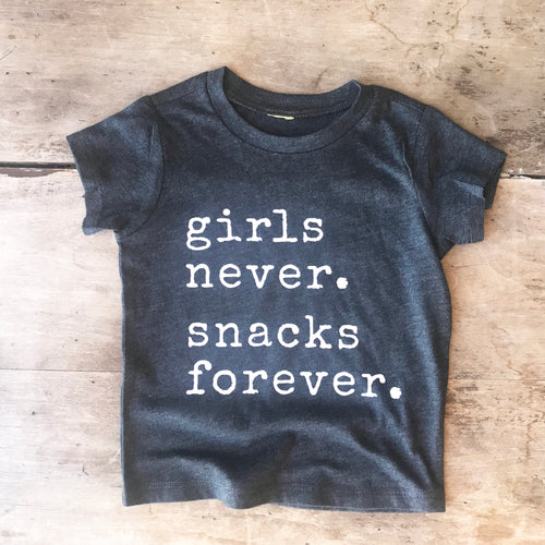 Girls Never. Snacks Forever.