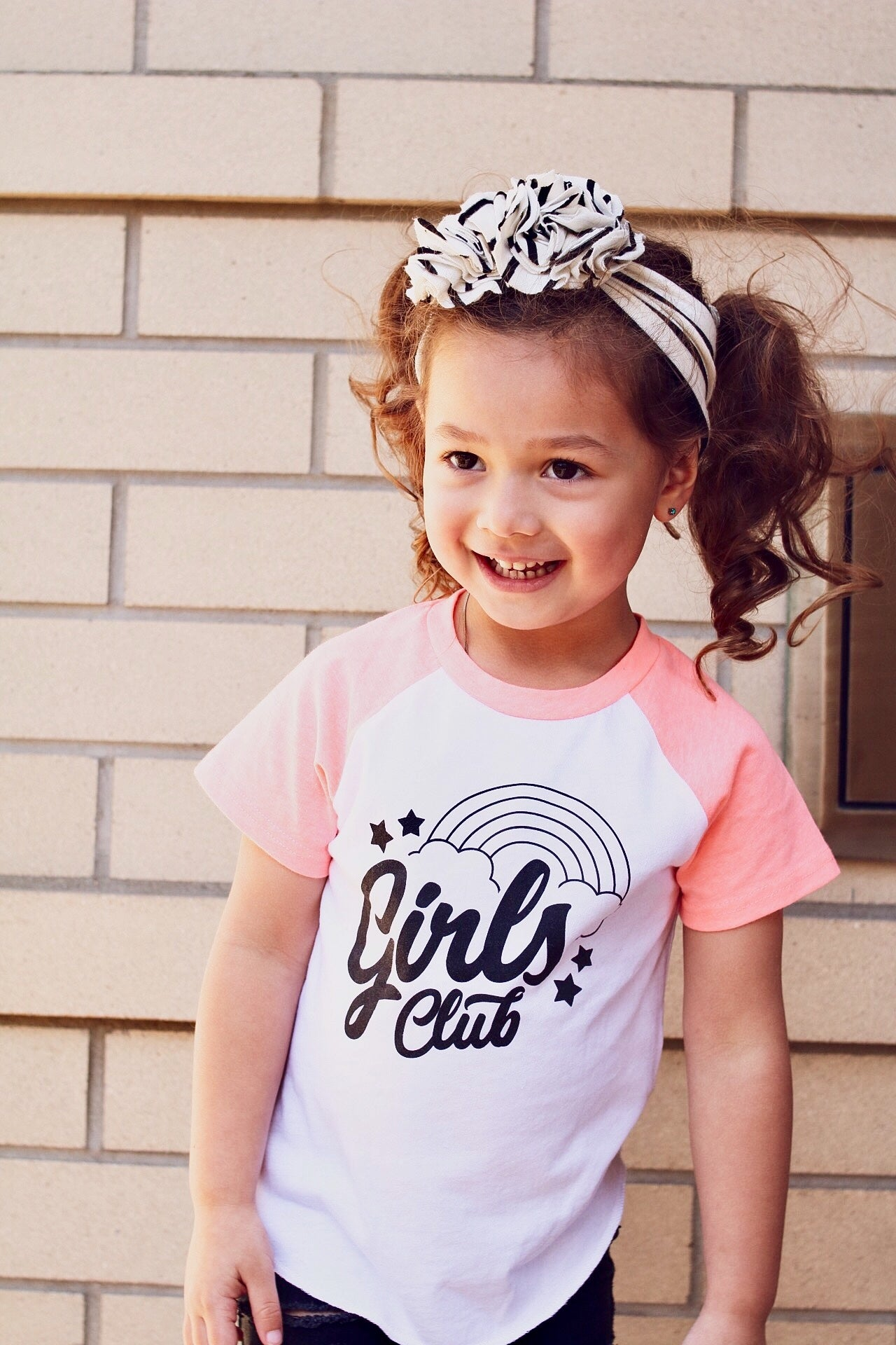 Girls Club Short Sleeve Raglan