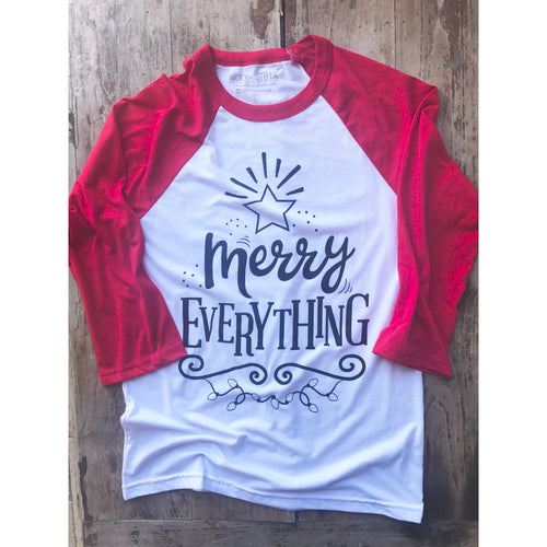 Merry Everything Adult Raglan