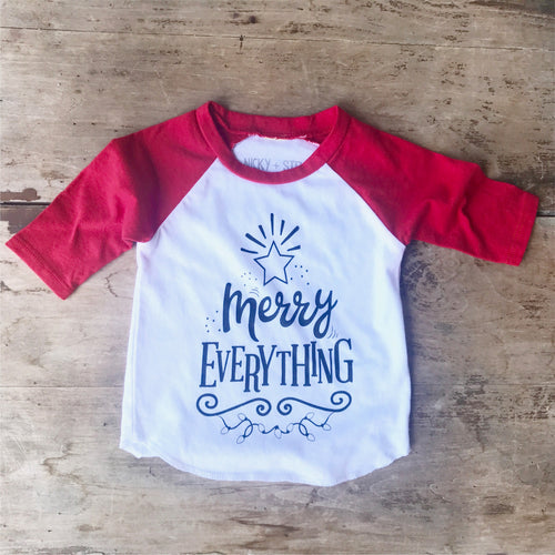 Merry Everything Kids Raglan