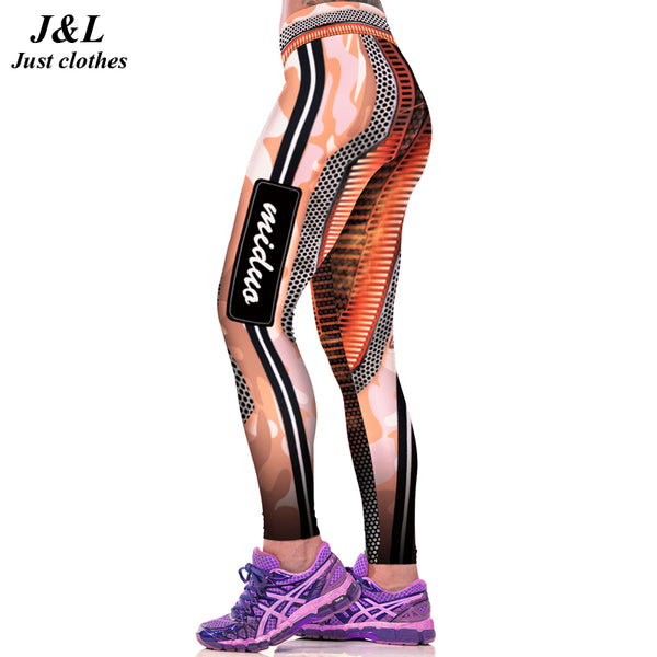 JLZLSHONGLE New! Letter Mesh Pattern Patchwork Printed Leggings Esportivos Women Sexy Leggins Calzas Deportivas Mujer Fitness