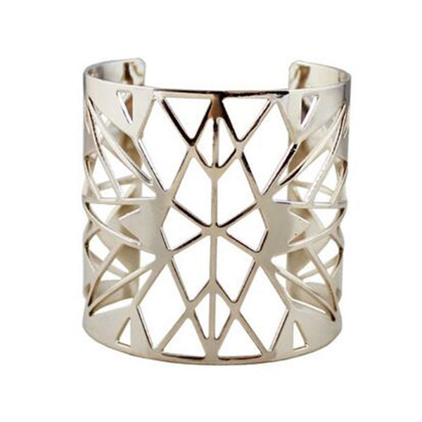 2017 Limited Bracelets New Designer Unique Geometric Bangle Hollow Charm Open Bangles For Women Brand Bijoux Factory Wholesale