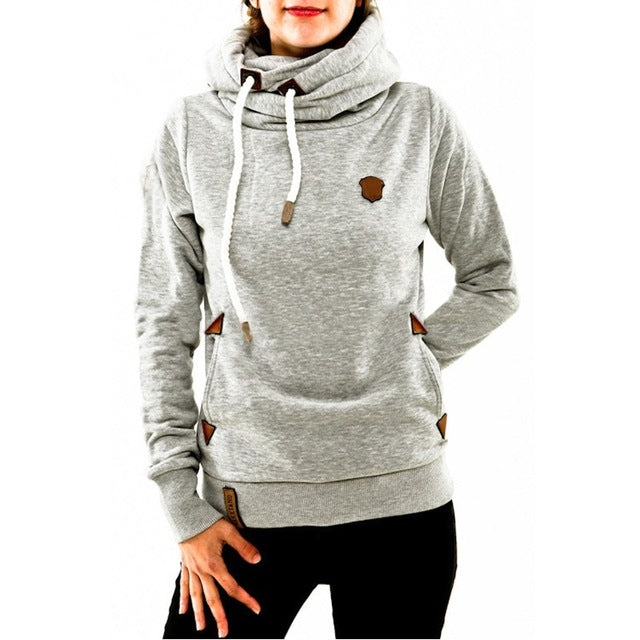 Winter Autumn 2016 Women Hoodies Female Warm Hooded Sweatshirt Long Sleeve Pockets Casual Loose Pullovers Plus Size S-5XL
