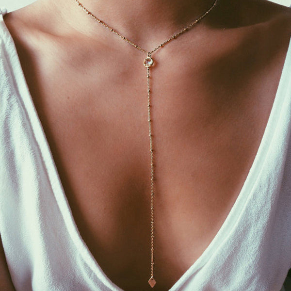 New fashion accessories Simple jewelry  crystal  Tassel  pendant necklace for women girl nice gift wholesale N294