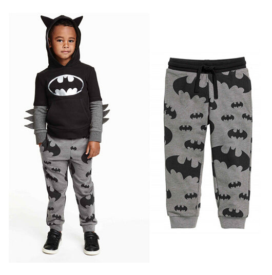 2016 New Spring Kids Baby Harem Pants For Little Boys Children Trousers Infant Elastic Waist Batman Cartoon Full Printed Joggers