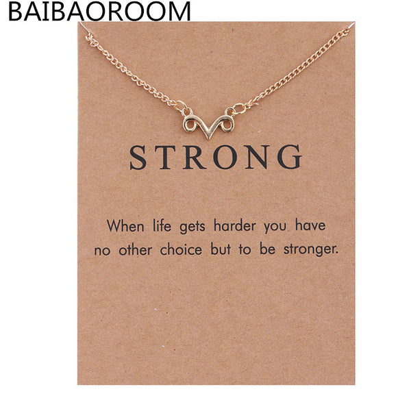 Hot Sale Simple plated Gold Claw paragraph Pendant Long Strip Necklaces Statement Choker Necklace Women