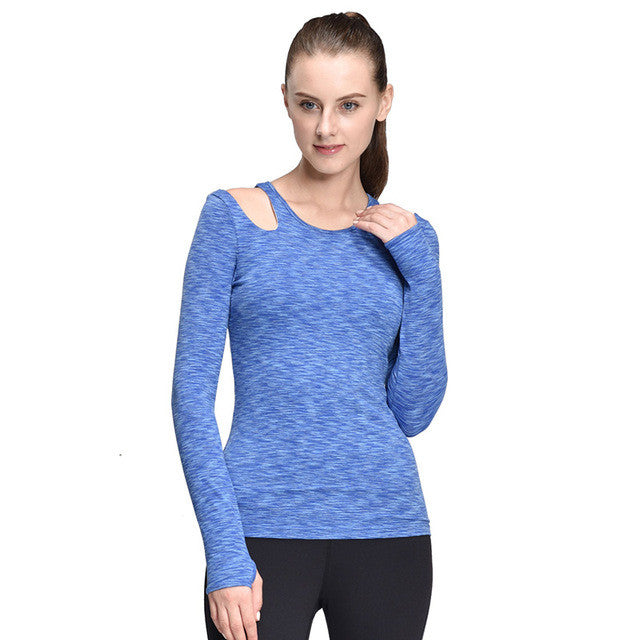 Women Yoga Tops Compression T-Shirt Running Tights Woman Long Sleeve Running Clothes Long Sleeve Yoga Tops with Bra