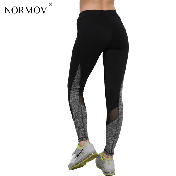 NORMOV S-XL Adventure Time Mesh Leggings Women Activewear Polyester Push Up Leggings Fashion Elastic Slim Leggins Women