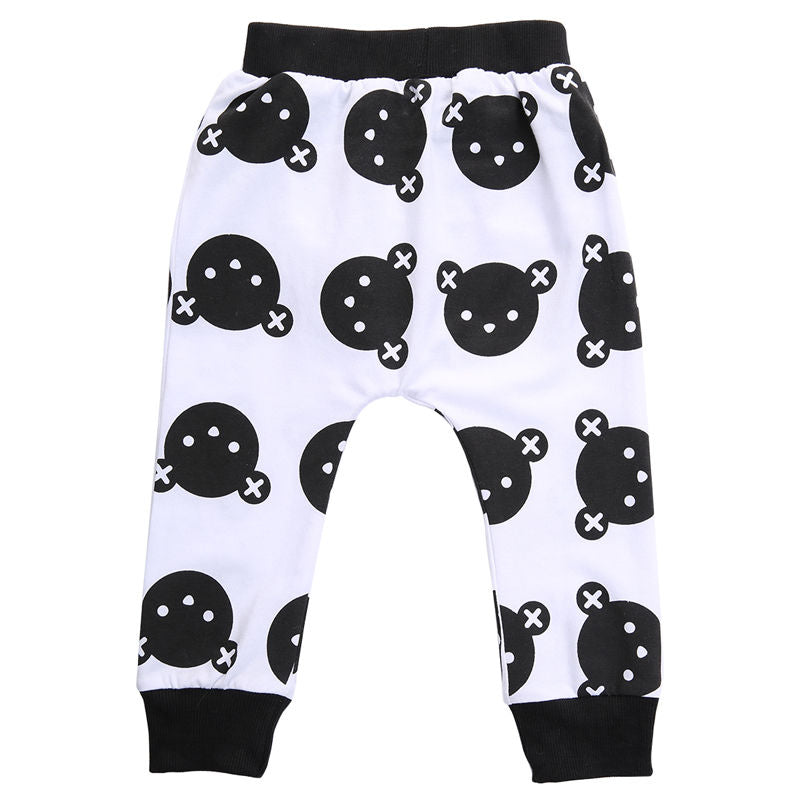 Baby Boy Girls Baggy Harem Pants Toddler Kids Joggers Bottoms Trousers