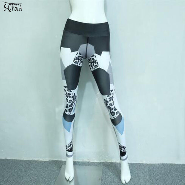Leopard Print Sporting Leggings Women Fitness High Elastic Skinny Pants Fashion Clothing For Women Push-up Workout Leggings