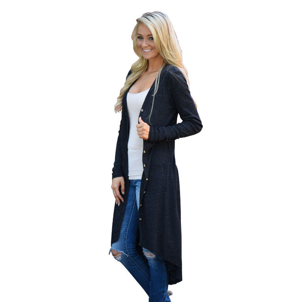 Cardigan Female Women Cardigan Autumn Loose Sweater Long Sleeve Knitted Outwear Jacket Female Sweater Pocket Knitted Cardigans