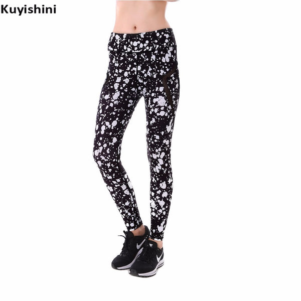 autumn spring plus size xxl 3xl 4xl leggings sexy women white black dots printed soft push up pants mesh legging leggins mujer