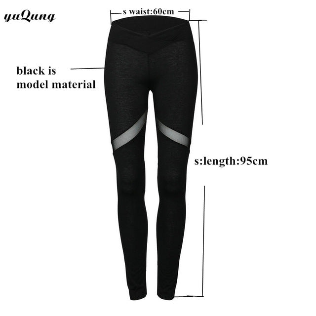 yuqung Heart-Shaped Leggings Women Fitness Leggings Color Block Autumn Workout Pants Mesh Insert Sporting Leggings legins J41