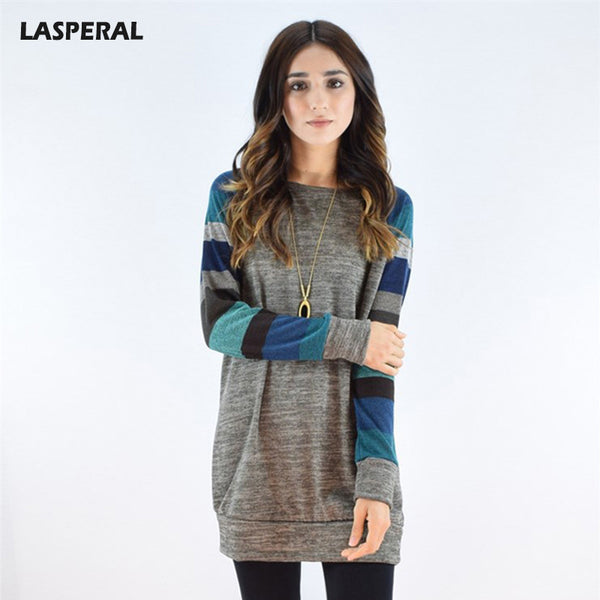 LASPERAL 2017 Autumn Patchwork Long Hoodies Sweatshirt Women Casual Printing Slim Fit Hooded Hoody Ukraine Pullovers Female