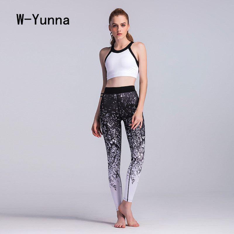 W-Yunna New Autumn Gothic 3D Print Leggings Women Mesh Patchwork Design Fitness Legging Flexible Soft Stretchy Leggin Jeggings