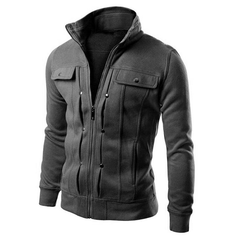 New 2017 Fashion Hoodies Men Button Hip Hop Mens Brand Solid Hooded Zipper Hoodie Cardigan Sweatshirt Slim Fit Men Hoody 4XL