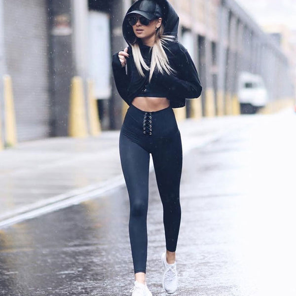 Casual High Waist Cross Leggings Women Fitness Leggings Color Block Autumn Winter Workout Pants New Arrival Mesh Insert Leggings