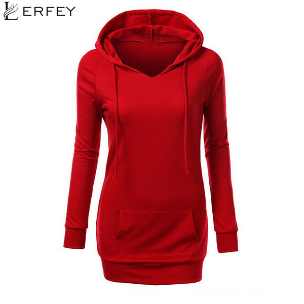 LERFEY Women Autumn Sweatshirt Hoodies Pockets Pullovers Loose Tops Long Sleeve Sweatshirts Female Moletom Clothing