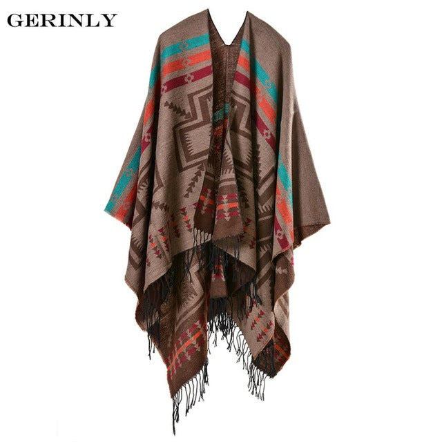 6f25e097f053a ... GERINLY Brand Design Bohemian Tassel Scarf Pashmina Women's Winter Warm Scarves  Blanket Shawls Female Long Thicken ...