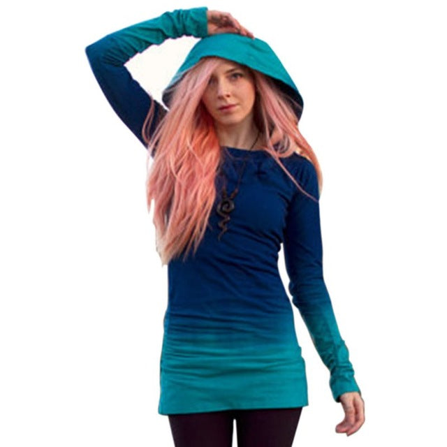 Women Hoodie Sweatshirt Casual Long Sleeve Hooded Jumper Tunic Pullover Tops sudadera mujer