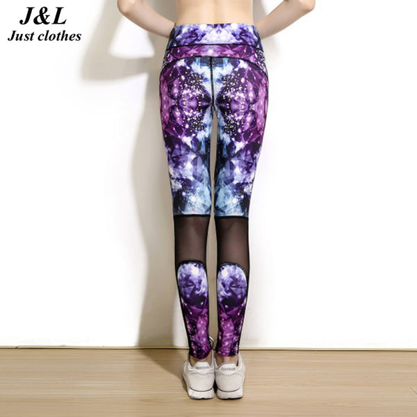 Raise Buttock ! New Popular Transparent Diamond Printing Mesh Splicing Women Workout Leggings For Sporting Fitness Dancing......