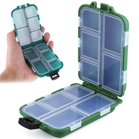 Mini 10 Compartments Fishing Tackle Box