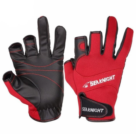 Leather Anti-Slip Breathable Fishing Gloves