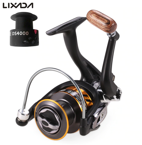 Lixada 12+1BB Spinning Fishing Reel with Free Spare Spool