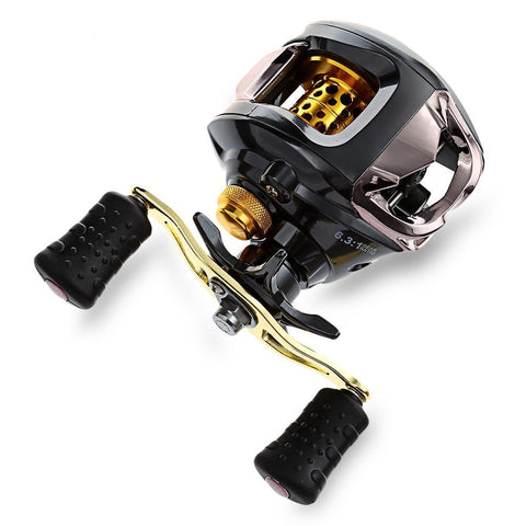 Fishing Savage EX 13 Ball Bearings 6.3:1 Gear Ratio Baitcasting Reel Right / Left Hand Magnetic Braking System