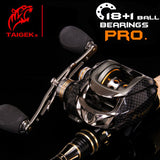 TAIGEK 18+1  BB High Capacity Bait Casting Reel with 7.0:1 Gear Ratio & Dual Brakes