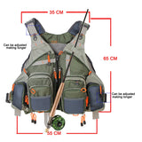 NEW Adjustable, Multiple-Pocketed Fishing Vest