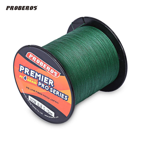 300M PROBEROS 300M 4 Strands Braided 6LB to 80LB 5 Color Multifilament Fishing Line