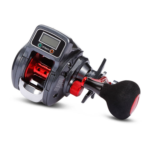 LIXADA STACO 13+1 BB GR 6.3:1 Line-counter Fishing Reel with Digital Display