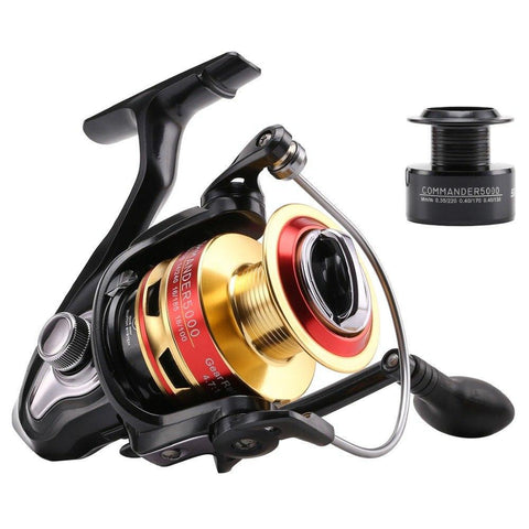 COMMANDER Spinning Fishing Reel With A Spare Spool