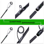 Sougayilang 4 Pc Casting/Spinning Fishing Rod