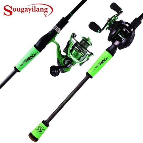 Sougayilang 4 Pc Spinning Fishing Rod