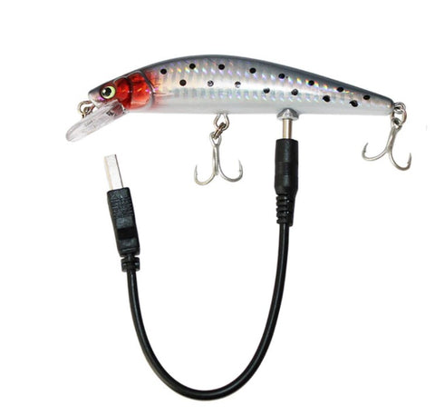 Rechargeable Twitching and Flashing Fishing Lure