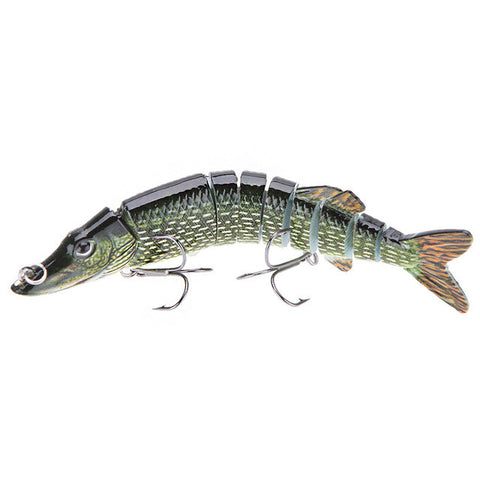 12.5cm 20g 9-Segments Artificial Pike Lure